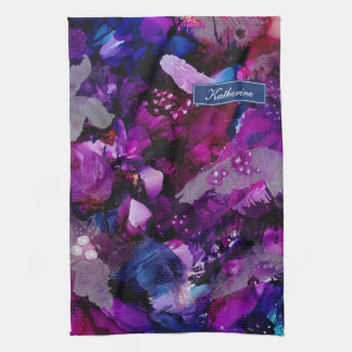 Paño De Cocina Púrpura dramática del extracto de las tintas