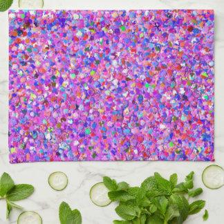 Paño De Cocina Purpurina moderno #3 de la arena del mosaico
