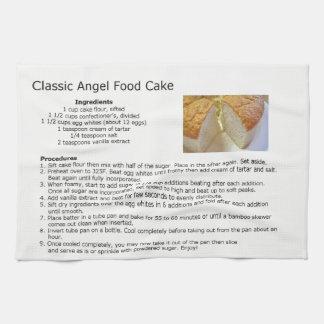 Paño De Cocina Receta clásica de la torta de comida de ángel