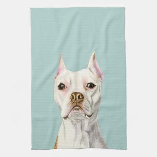 """Paño De Cocina Retrato blanco """"orgulloso y alto"""" del perro del"""