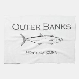 Paño De Cocina Rey caballa de Outer Banks Carolina del Norte