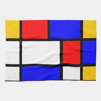 Paño De Cocina Ropa casa estilo Mondrian