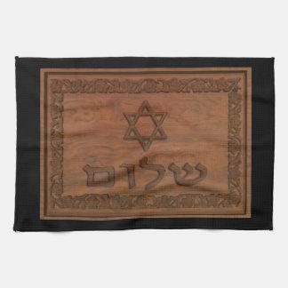 Paño De Cocina Shalom de madera tallado