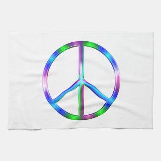 Paño De Cocina Signo de la paz colorido brillante