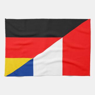 Paño De Cocina símbolo del país de la bandera de Alemania Francia