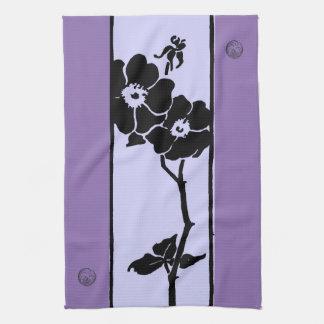 Paño De Cocina Sombras púrpuras: Flores abiertas de la oscuridad