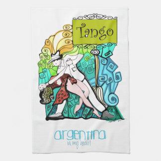 Paño De Cocina TANGO la Argentina en mi corazón