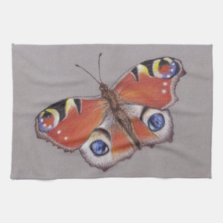 Paño De Cocina Té-Toalla con diseño de la mariposa de pavo real