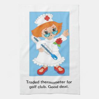 Paño De Cocina Termómetro negociado para el club de golf - buen