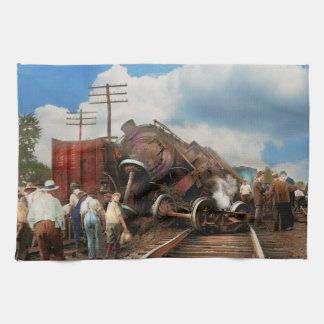 Paño De Cocina Tren - accidente - cabezas que empalman 1922