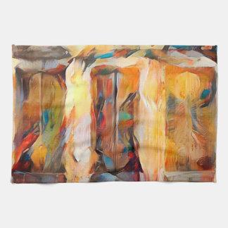 Paño De Cocina Tres Windows de emoción, expresión abstracta