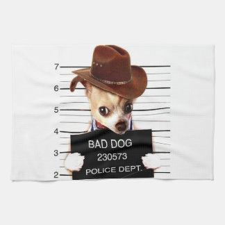 Paño De Cocina vaquero de la chihuahua - perro del sheriff