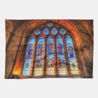Paño De Cocina Ventana de la abadía del vitral