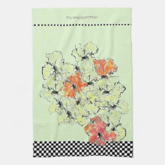 Paño De Cocina Verano en Wildflowers elegantes lamentables de la