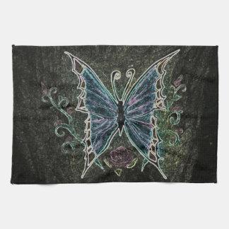 Paño De Cocina Web de la mariposa