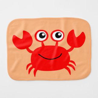 Paño de encargo del burp del cangrejo feliz paños para bebé