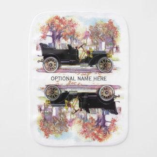 Paño de encargo del burp del coche del vintage