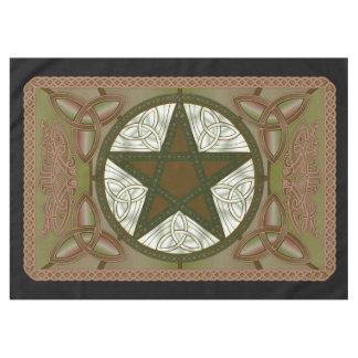 Paño del altar con Pentagram verde y Triquatras Mantel