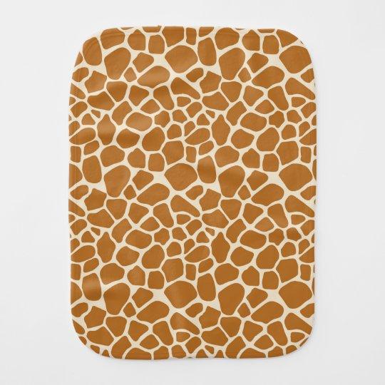 Paño del Burp del estampado de girafa