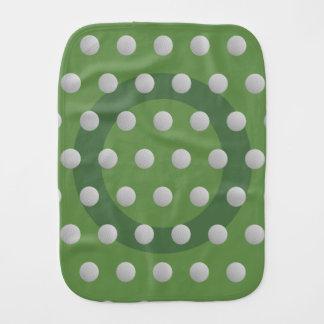 Paño del Burp del verde de musgo del modelo de