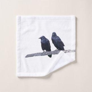 paño del lavado con el cuervo