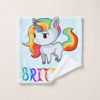 Paño del lavado del unicornio de Brittney