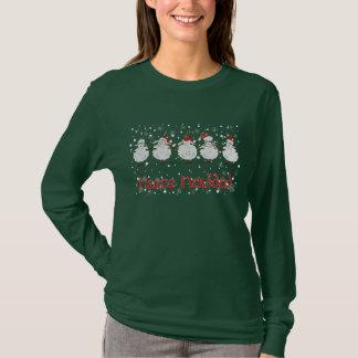 Paño grueso y suave DIVERTIDO Navidad de las Camiseta