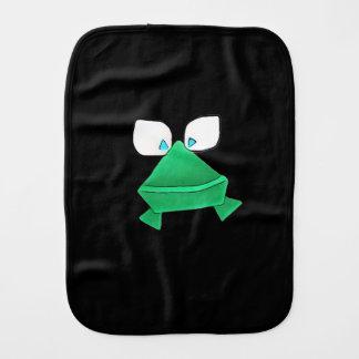 Paño lindo del Burp del bebé de la rana verde Paños Para Bebé