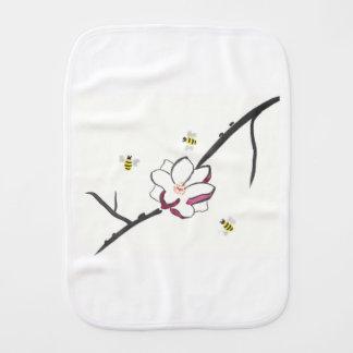 Paño Para Bebés Abejas de la magnolia y de la miel