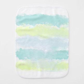 Paño Para Bebés Acuarela de Azur del verde azul