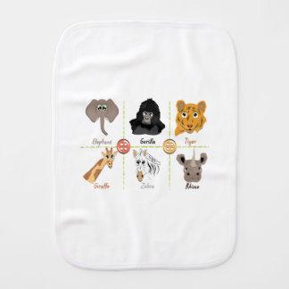 Paño Para Bebés Animales salvajes