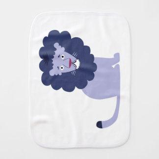 Paño Para Bebés Azul azul del león