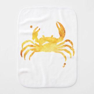 Paño Para Bebés Cangrejo amarillo de encargo del watercolour
