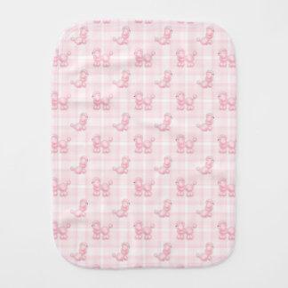 Paño Para Bebés Caniches y controles rosados lindos