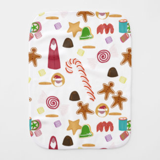 Paño Para Bebés Caramelos de los Sweeties del navidad, bastón de