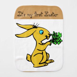 Paño Para Bebés Conejito amarillo lindo para Pascua feliz preciosa