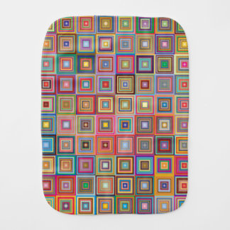 Paño Para Bebés Cuadrados retros abstractos coloridos