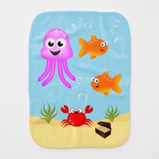Paño Para Bebés Debajo del mar, caracteres de la diversión
