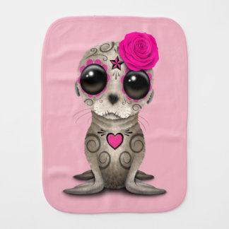 Paño Para Bebés Día rosado del león marino muerto del bebé