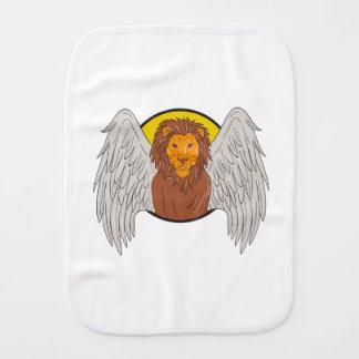 Paño Para Bebés Dibujo con alas del círculo de la cabeza del león