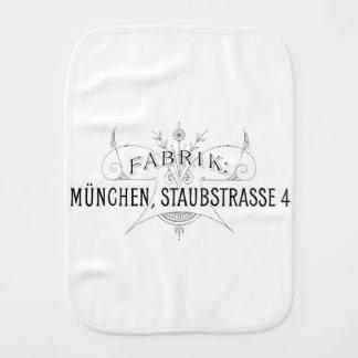 Paño Para Bebés diseño alemán de la tipografía del vintage