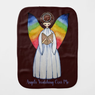 Paño Para Bebés El ángel de la acuarela con el arco iris se va