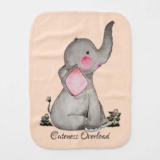 Paño Para Bebés El elefante lindo del bebé de la acuarela con se