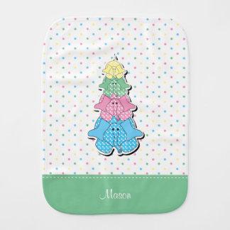 Paño Para Bebés El pastel puntea el elefante verde del bebé