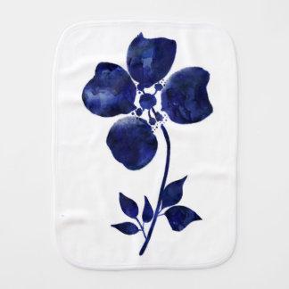 Paño Para Bebés Flor azul