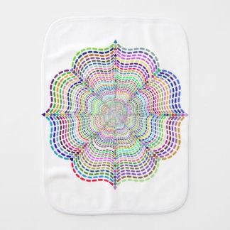 Paño Para Bebés Flor cromática de la mandala del arco iris