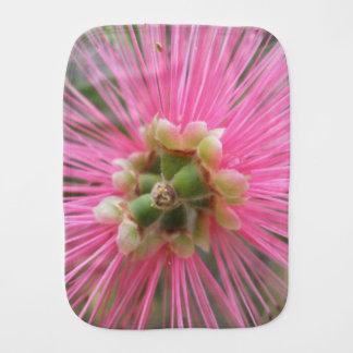 Paño Para Bebés Flor rosada del árbol de goma