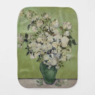 Paño Para Bebés Florero de Vincent van Gogh de rosas que pintan