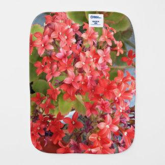 Paño Para Bebés Flores rojas