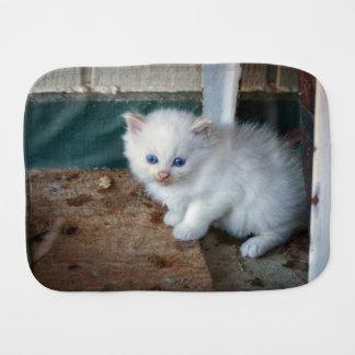 Paño Para Bebés Gatito blanco